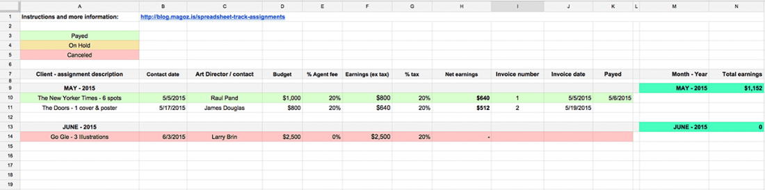 Track Your Assignments Invoices And Earnings With This Spreadsheet - How to track invoices