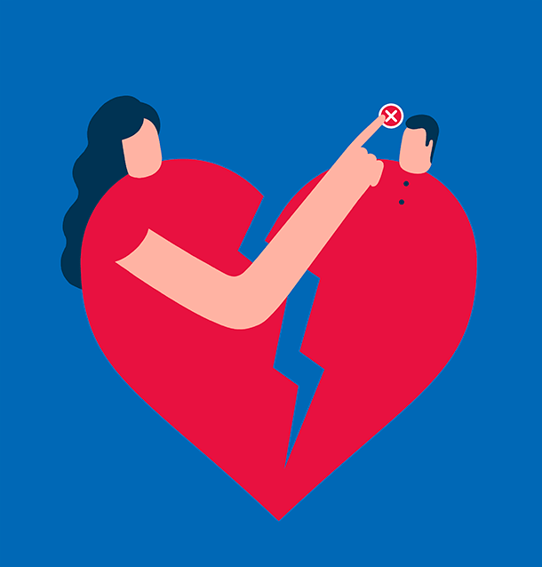 Magoz illustration – Apps to help you to definitely break up with your ex. For Papel, El Mundo.