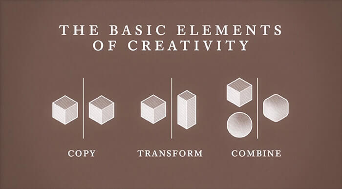 Where do the ideas come from? The basic elements of creativity. Everything is a Remix