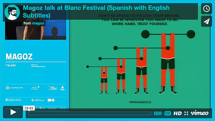 Magoz - Video 15 minutes talk  at Blanc Festival 2015 - English with Spanish subtitles